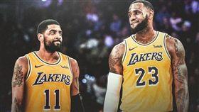 NBA/重逢詹皇?厄文洛城街頭現蹤 NBA,波士頓塞爾提克,Kyrie Irving,洛杉磯湖人,LeBron James 翻攝自推特