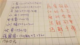 開銷,清單,爆怨公社 圖/翻攝自臉書