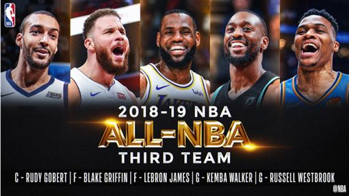 ▲NBA公布年度第三隊。(圖/取自NBA推特)
