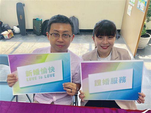 台北市議員邱威傑、林穎孟 圖/翻攝自林穎孟臉書