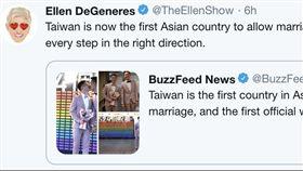Ellen DeGeneres推特