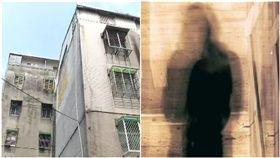 舊公寓頂樓出現詭異人影。(圖/資料照、PIXABAY)