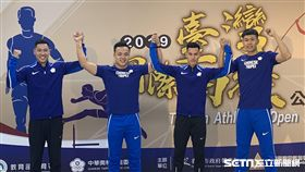 鄭兆村、楊俊瀚、陳傑、陳奎儒都將參加台灣國際田徑公開賽。(圖/記者劉家維攝影)
