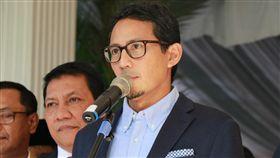 桑迪阿加記者會印尼總統選舉落敗的候選人普拉伯沃今天晚間將向憲法法庭提出選舉無效之訴訟。他的副手桑迪阿加稍早召開記者會說明。中央社記者石秀娟雅加達攝  108年5月24日