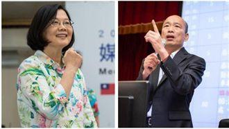 民調/蔡39%吸中間票狂勝韓25%