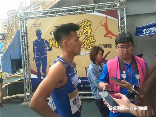 ▲楊俊瀚在預賽跑出今年最佳成績。(圖/記者林辰彥攝影)