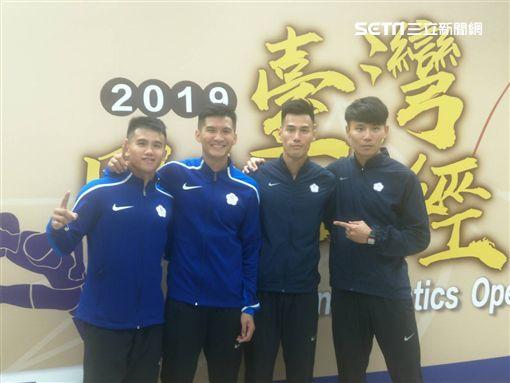 ▲中華男子400公尺接力隊在預賽破全國紀錄。(圖/記者林辰彥攝影)