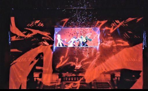 光雕投影布袋戲巡迴北美 傳統技藝新風貌來自台中豐原的新勝景掌中劇團5月訪問美國、加拿大等10多個城市,運用光雕投影技術將3D動畫與布袋戲結合。中央社記者林宏翰洛杉磯攝 108年5月25日