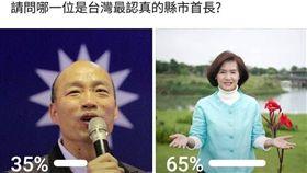 臉書發起投票韓國瑜林姿妙。