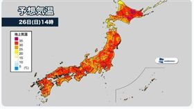 北海道酷熱 創5月氣象觀測紀錄(圖/翻攝自ウェザーニュース推特)