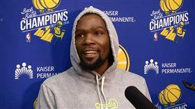 NBA/勇士沒他更好?杜蘭特說… NBA,季後賽,金州勇士,Kevin Durant,受傷 翻攝自推特