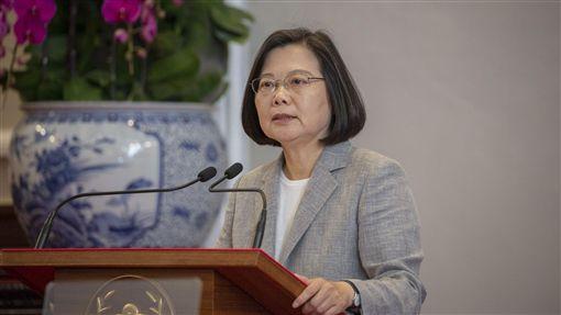 總統蔡英文20日舉行「三年有成 台灣進步關鍵字」記者會。(圖/總統府提供)