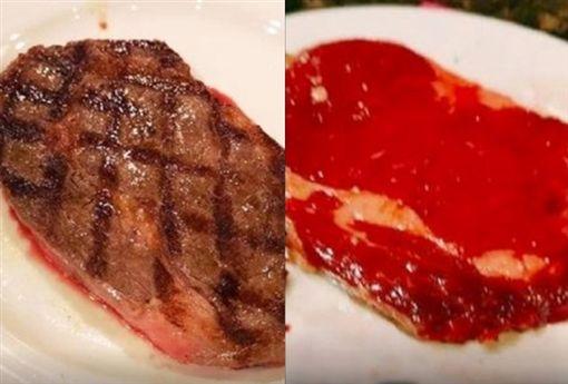 點了頂級和牛牛排,沒想到送上來的竟然長這樣。(圖/翻攝自臉書社團「澳門難食中伏團」)