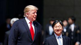美國總統川普出訪日本會新任天皇德仁 圖/路透社/達志影像