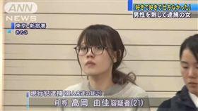 ▲高岡由佳目前被依殺人未遂罪送辦。(圖/翻攝自推特)