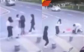中國大陸實習女律師街頭遭砍殺(圖/翻攝自YouTube)