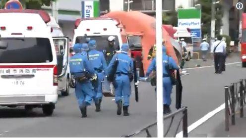 勿用)川崎隨機殺人「2死16傷」!受害者多為小學生 兇嫌自殺(圖/翻攝自NHKニュース推特)