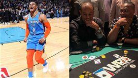NBA/拿AK伍茲梭了!結果威少… NBA,奧克拉荷馬雷霆,Russell Westbrook,老虎伍茲,德州撲克 翻攝自推特
