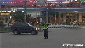 台中警方疏導交通、交警、交通警察/翻攝畫面