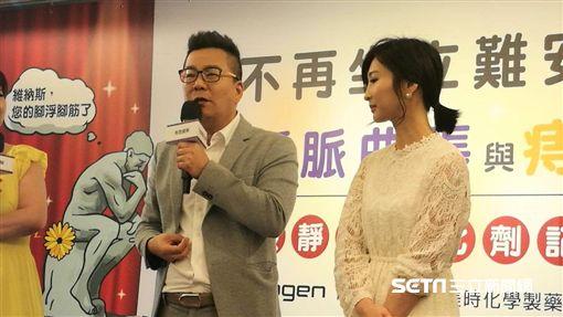 沈玉琳(左)分享自身痔瘡慘痛經驗。(圖/記者楊晴雯攝)