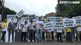 Uber,行政院,抗議,衝突,交通部,Uber條款,駕駛,/記者蕭筠攝影