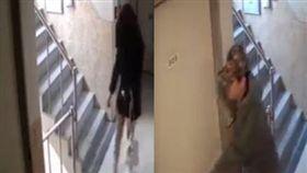 南韓男子尾隨喝醉女子,狂按密碼鎖意圖闖入。(圖/翻攝自신림 대신 전해드립니다臉書)