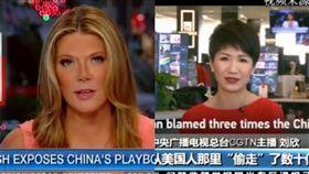 央視福斯正面交鋒!中美女主播將辯論 貿易戰成「媒體戰」 (圖/翻攝自微博、twitter)