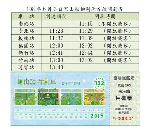里山動物列車2.0,台鐵局,時刻表,/台鐵局提供