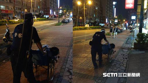 輪椅婦無意識癱馬路邊,暖警推她奔500M送醫/翻攝畫面
