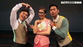 該劇全場只有三個演員,考驗演員功力。(圖/怡佳娛樂提供)