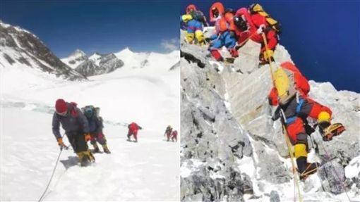 花219萬登聖母峰…他見「雪藏屍體」腿軟 山友瞬間爆哭圖翻攝自微博