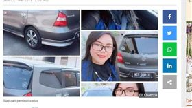 印尼女網友把自己和車一起出售。(圖/翻攝自tribunnews)