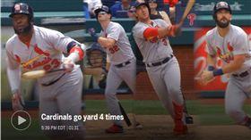 ▲紅雀單場擊出4發全壘打。(圖/翻攝自MLB官網)
