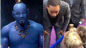 Will Smith,阿拉丁,魔法,精靈,女童,迪士尼,電影,聖誕老人, 圖翻攝自YouTube、阿拉丁官方劇照