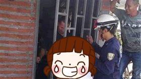 鄰居,好奇,大媽,多管閒事,雞婆,哥倫比亞,鐵柱,門,玄關,消防員,八婆 圖/翻攝自臉書