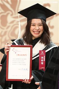 徐若瑄畢業典禮。(記者林士傑/攝影)
