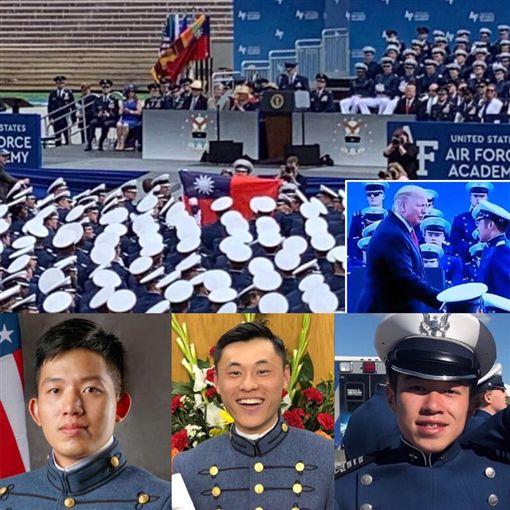 蔡英文總統1日晚間在臉書發文指出,美國空軍官校的畢業典禮當台灣被唱名、中華民國國旗飄揚的那一刻,國軍的榮耀也被世界看見。(圖/國防部提供)