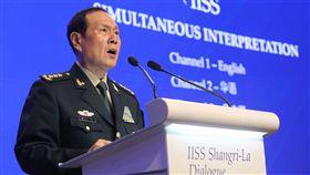 中防長魏鳳和在香格里拉對話發表演說「香格里拉對話」聚集亞洲安全議題,出席對話的中國國防部長魏鳳和2日以「中國與國際安全合作」為議題演講。中央社記者黃自強新加坡攝 108年6月2日