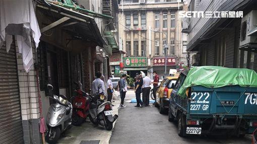 台北市大同區保安街公寓墜樓現場(讀者提供)