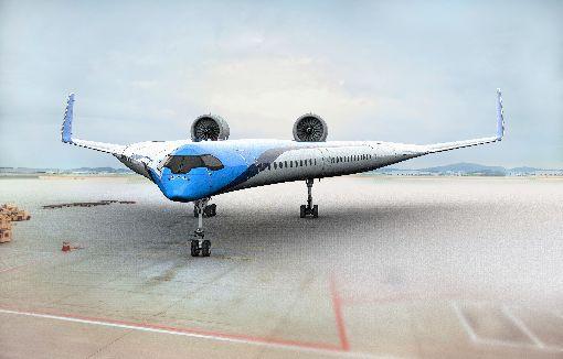 荷蘭皇家航空造省油飛機(3)荷蘭皇家航空(KLM)2日在首爾的航空業年會中表示,正和德爾夫特科技大學共同建造新型的省油飛機,這架Flying-V預測將比現今最先進的空中巴士A350省油達20%。中央社記者李欣穎首爾傳真   108年6月2日
