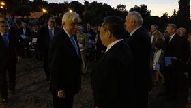▲希臘總統Prokopios Pavlopoulos特別前往祝賀中華奧會。(圖/中華奧會提供)