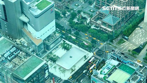 蘋果二店台北101空拍。(圖/記者蔡佩蓉攝影)
