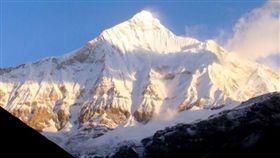 喜馬拉雅山,山脈,楠達德維山東峰。翻攝互聯網