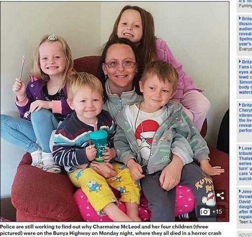 單親媽載4兒女遇死亡車禍!200公尺外藏遺書 警揭悲痛內幕(圖/翻攝自每日郵報)