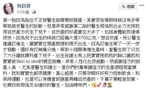 吳辰君。(圖/臉書)