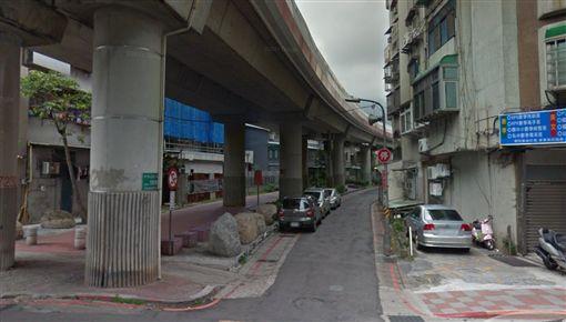 台北,北投,中央北路,BB槍,女學生。翻攝自GoogleMap