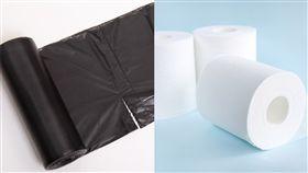 (合成圖/翻攝自搜好貨平台,PhotoAC)黑色垃圾袋,衛生紙