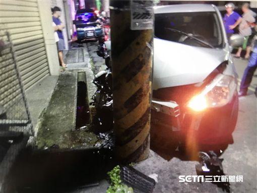 台中神岡男自撞電線桿亡/翻攝畫面