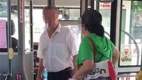 台北,公車,310,挑釁,司機。翻攝自爆怨公社