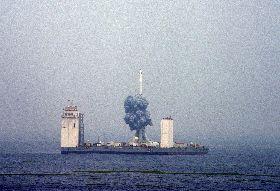 中國長征11號運載火箭 海上首次試射